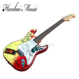 Hanhai Music / Sale Price St Style Electric Guitar with Pattern on Body