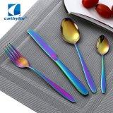 Eco-Friendly Fashion Stainless Steel Rainbow Flatware, PVD Dinnerware Wedding