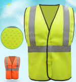 Breathable Polyester Mesh Safety Vest with Reflective Tape