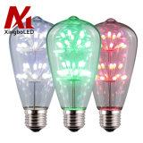 Nostalgic Decorative Firework St64 RGB E26 Starry Style LED Light Bulb for Home Decoration