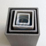 Pultruded Fiberglass Hollow Tubes FRP Composite Plastic Square Rectangular Tube