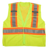 Yellow Reflective Vest with Reflective Tape