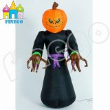 Finego Halloween Party Decoration Inflatable Cartoon Toys Pumpkin Monster