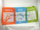 Waterproof 3 Pack Eco Recycled PP Woven Trash Bag Set for Garbage Sorting