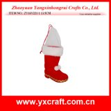 Christmas Decoration (ZY16Y221-1 13.5CM) Santa Boot for Christmas Gift Craft