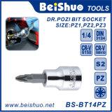Different Size Drive Pozi Bit Socket, Cr-V or S2 Material