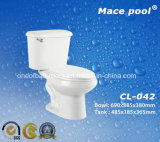 S-Trap Two Piece Toilets Water Closet for Bathroom (CL-042)