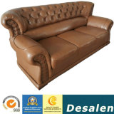 Factory Wholesale Price Hotel Furniture New Classic Leather Sofa (619)