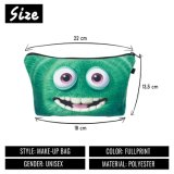 Green Monster Cosmetic Bags 3D Printing Travel Makeup Bag Fashion Small Bags Gift Trousse De Maquillage Make up Bag Pencil Case