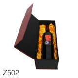 Z502 Custom Cheap Single Paper Cardboard Red Wine Glass Packing Gift Box Packaging