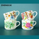 Hot Selling Ceramic Mugs Wholesale Ceramic Stackable Coffee Mug Set with Flower Decal