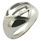 Stainless Steel Movie Superman Ring