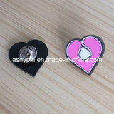 Rubber 2d Heart Shape Pin Badge (ASNY-LP-CZ-144)