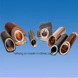 Fin Tube Series Condenser Tubes with Aluminum Finned, Copper Alloy/Stainless Steel/Carbon Steel/Titanium Core Tube, Aluminum-Fin