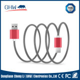 Metal Gridding Customized Charging Cable Many Colours 2.1A