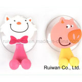 Animal Design PVC Rubber Kids Toothbrush Holder (TBH002)