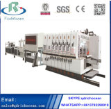 Automatic Flexo Ink Printing Die Cutting Gluing Bundling Linkage Line