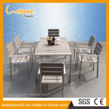 Waterproof Anti-Corrosion Modern Rectangle Hotel Home Dining Chair Table Set Outdoor Garden Leisure Furniture