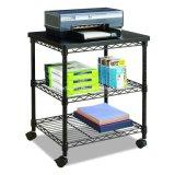 Products Deskside Wire Machine Stand Series / Adjustable Rolling 3 Tier Printer Storage Rack with Wheels
