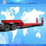 3 Axles Heavy Trucks Low Bed Truck Trailer for Excavator Transportation