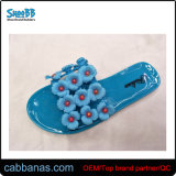 Nice Style Cheap Blue Shower Beach House Many Flowers Jelly Slippers for Womens Ladies