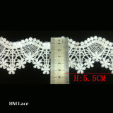 5.5cm Water Soluble Lace Trim for Curtain Fringe, Lace Fabric for Garment Hml030
