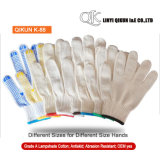 K-88 All Size Dotted Knitted Working Safety Lampshade Cotton Gloves