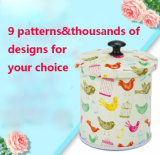Now Design Creative Round Desk Storage Tin Box for Food Packing, 9 Patterns and Thousands of Styles of Can for Your Choice