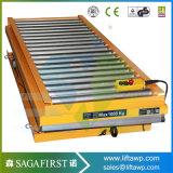 China Customized 5ton Hydraulic Roller Scissor Lift Table