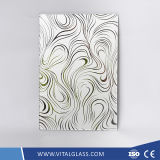 4-6mm Patterned Art Glass Painted Acid Glass