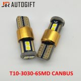 New Designed Car Bulbs 194 W5w 3030 6SMD Auto License Plate Light