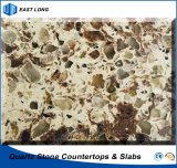 Durable Quartz Artificial Stone for Solid Surface with SGS Report (double & multiple colors)