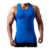Dopoo Sky Blue Moisture-Wicking Fitness Vest for Muscle Men