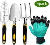 4 Pieces Garden Multi Tools with Gloves for Garden Use