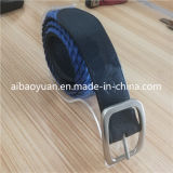 Tri Gilde Buckle Holes Leather Braided Belt