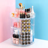 Large Transparent Acrylic Rotary Lipstick Cosmetic Storage Box