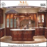 American Style Home Furniture Wooden Kitchen Cabinet with Granite Countertop