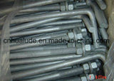 Galvanized Steel L Bolt, J Bolt, Foundation Bolt