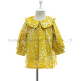 Floral Flower Toddler Cotton Long Sleeves Mini Dresses for Best Price Selling