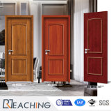 Solid Wood Skeleton Non-Painting Melamine Film Finished Interior Wood Door