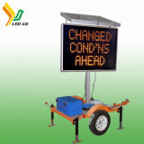 Mobile Informative LED Solar Traffic Warning Signs Vms Screen Trailer Traffic Signal