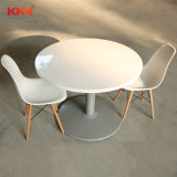 Modern Round White Solid Surface Dinner Table