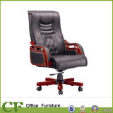 High Back Solid Wooden Office PU Executive Chair for Eco