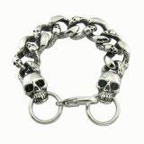 Surgical Steel Men's Skull Bangles