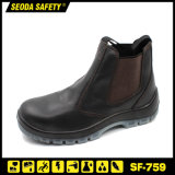 No Lace Slip on Leather Safety Work Shoes Men Women