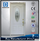 Decorative Glass Inserted High End Economic Fiberglass Door