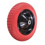 Red Color PU Tyre Wheel 3.00-8 Wheelbarrow Wheel