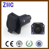 Trailer Parts 7-Way Blade Round Plastic Vehicle Trailer and Connector