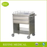 E-35 Medical Hospital Furniture Stainless Steel Medicine Trolley