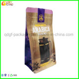 Plastic Stand up Coffee Food Packaging Bag with Resealable Zipper